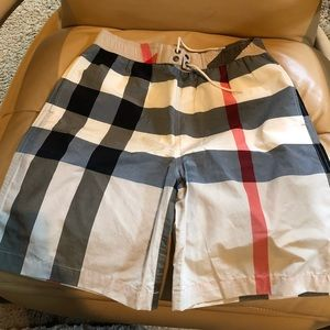 Burberry Boys Swim Trunks in Classic Pattern